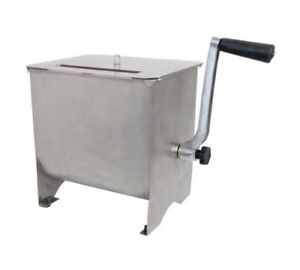 Meat Mixer 20lb Mixing Capacity Stainless Steel Handle Kitchen Home Appliances