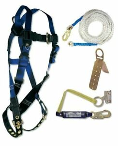Falcon Safety Os 8595a Fall Tech Contractor Harness With Roofer s Kit Universal