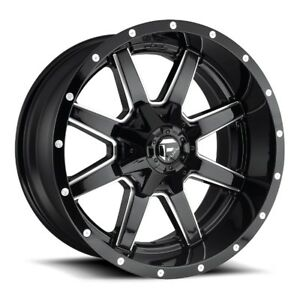 22x10 Fuel D610 8x170 Et 24 Gloss Black Wheels set Of 4