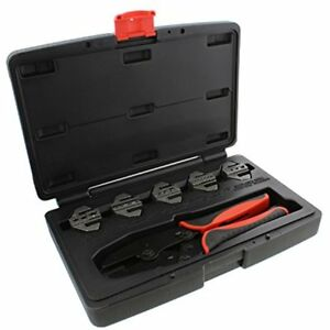 Quick change Ratchet Crimper Pliers Die 6 piece Crimping Tool Kit Insulated