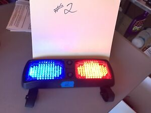 Whelen Flatlighter Whelen Led Red blue Tested Works P n 01 0683341 Visor Mount