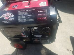 Gas Generator Power Your Whole House Hd8000ge Also Has 50 Amp Plug