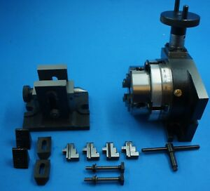 4 Rotary Table Horizontal vertical Set With 3 4 Jaw Chuck And Tailstock