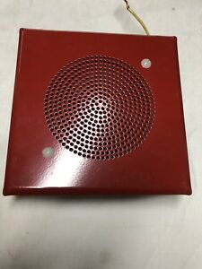 2 New Federal Signal Loud Speaker A1 Series 950i 75db 6 Red Square 25v