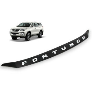 Front Bonnet Hood Line Cover Trim Black White For Toyota Fortuner 2016 17 18 Suv