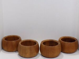 Vintage Set Of 4 Dansk International Ihq Wood Salad Bowls Malaysia