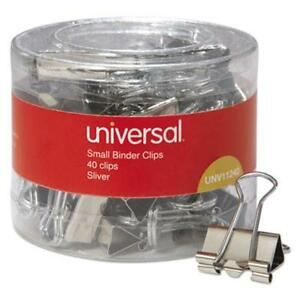 Universal Office Products 11240 Small Binder Clips 3 8 Capacity 3 4 Wide