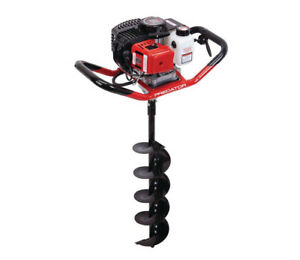2 Hp Gas Powered One Person Earth Auger 6 In Diameter X 31 In Long Bit 320 Rpm