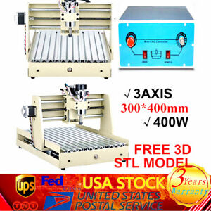 400w 3 Axis Engraver 3040 Cnc Router Engraving Drilling Milling Wood Machine
