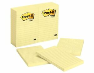 Post it Ruled Adhesive Note Self adhesive Repositionable 4 X 6 Yellow