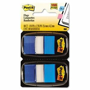 Post it Standard Tape Flags Removable Repositionable Reusable 1 X 1 75
