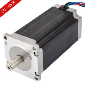 Nema 23 Stepper Motor Bipolar 3nm 425oz in 3 5a 114mm Length 4 Wires Cnc Router
