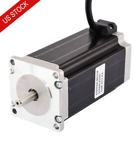 Dual Shaft Nema 23 Cnc Stepper Motor Bipolar 3nm 425oz in 4 2a 57x114mm 4 Wires
