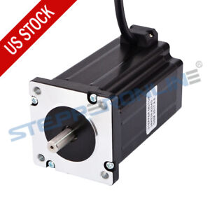 Dual Shaft Nema 24 Stepper Motor 4 2a 4nm 566oz in 60x100mm 4 Wires Cnc Router