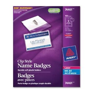 Avery Clip style Name Badges ave74461