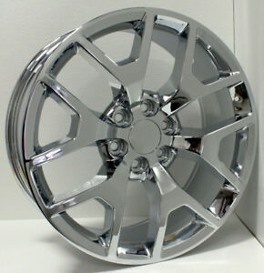 Set 4 New 22 Chrome Honeycomb Wheels Rims For 2000 18 Chevy Silverado Tahoe