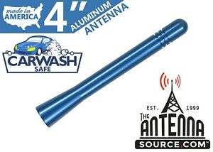 Short 4 Aluminum Blue Antenna Mast Fits 2005 2006 Chevrolet Equinox