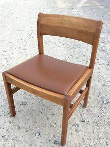 Gunlocke Mid Century Modern Walnut Brown Chair Danish Office