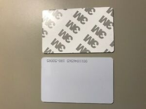 100 X125khz Rfid Proximity Read Only Access Id Cards With 3m Sticky Peel Backing