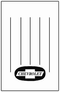 1947 1954 Chevrolet Truck Bed Floor Cover With G 009 Chev Bowtie Logo