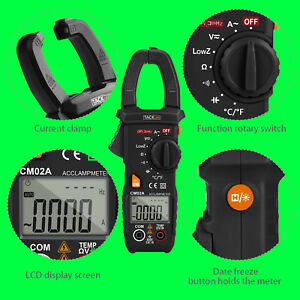 New Digital Clamp Multimeter Ac dc Voltage Tacklife Meter 1000a 6000 Counts Ncv