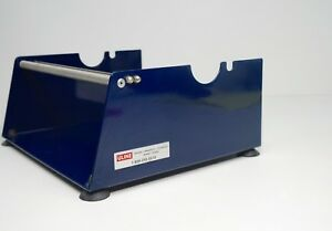 Uline 11 Deluxe Tape Label Dispenser h 17 Blue Metal Table Top Or Wall Mount