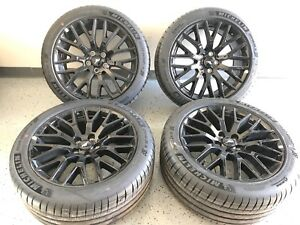 19 Ford Mustang Black Wheels Rims Tires Factory Oe Set Staggered