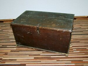Great Old Wooden Box Wood Chest Box Treasure Chest Wood Chest Travel Cases