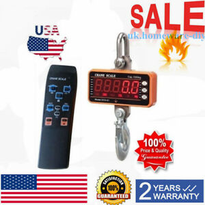 High Precision1000kg 2000lbs Digital Crane Scale Heavy Duty Hanging Lcd Display