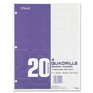 Mead Paper Filler Quad Rule Letter 8 50 X 11 240 Box 19010