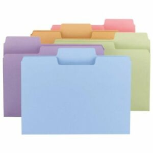 Smead 11961 Assortment Colored Supertab File Folders With Oversized Tab Letter