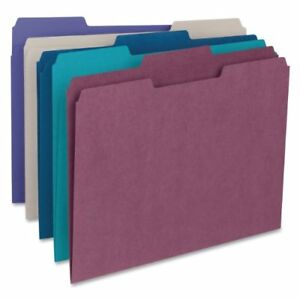 Smead 11948 Assortment Colored File Folders Letter 8 50 X 11 smd11948