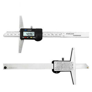 Digital Lcd 6 Vernier Stainless Steel Caliper 150mm Micrometer Depth Gauge