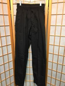 Lot Of 7 New Chef Works Restaurant Cook Chef Pants Black rental Grade size S f