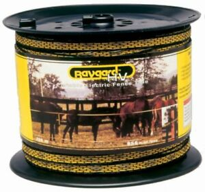 Baygard Electric Fence Yellow black Tape 656 Feet 00129