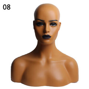 New Realistic Mannequin Head Display Fiberglass Hat Glasses Mold Stand Wig No 8