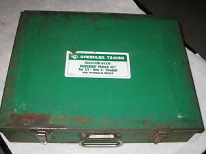 Greenlee 7310sb Hydraulic Knockout Punch Set With Metal Case