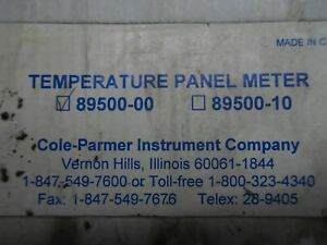 d5 1 New Cole parmer 89500 00 Temperature Panel Meter