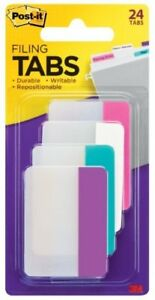 Post it 2 Filing Tabs Write on 24 Pack Assorted Tab 686pwav