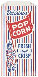 Royal Paper Products 300471 Pinch bottom Paper Popcorn Bag 4w X 1 1 2d X 8h