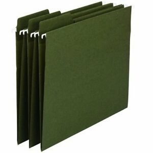 Smead 64137 Standard Green 100 Recycled Fastab Hanging Folder smd64137
