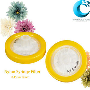 Nylon Syringe Filter 0 45um 17mm Hydrophilic Non sterile 100pcs pack Labware