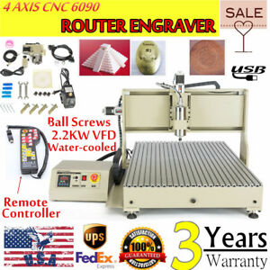 4 Axis Cnc 6090 Router Engraver Kit Usb Port 2200w Mach3 Handwheel Controller