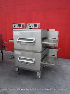 Middleby Marshall Ps224r68 Gas Double Stack Conveyor Pizza Oven