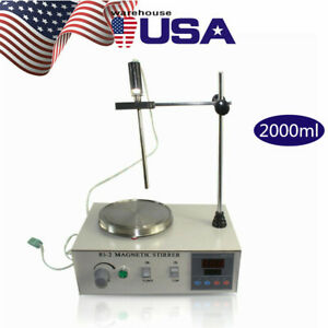 Magnetic Stirrer With Heating Plate 85 2 Hotplate Mixer 110v Digital Display Usa