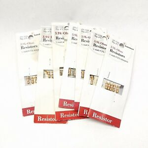 Radio Shack 271 1123 3 9k ohm Resistor 1 2 Watt 5 Tolerance 5 Pack X 7 35