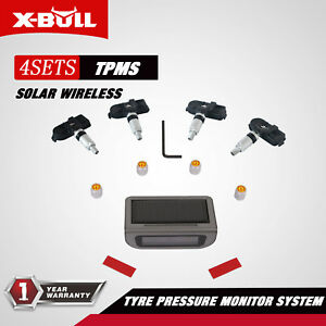 X bull Tire Pressure Internal Sensors Solar Wireless Tpms Monitor System 4