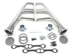 Patriot Lakester Street Rod Headers Mid Length Silver Ceramic Coated 1 5 8