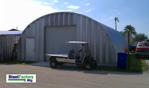 Steel Prefab Q30x50x14 Quonset Arch Ag Barn Farm Building Factory Direct Kit