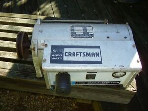 Craftsman Pto Generator Rare Antique Belt Drive Tractor Operated